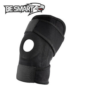 Sport Adjustable Black Knee Support Brace Protector Strap Running Basketball Gym