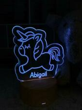 Personalised Unicorn LED children's night lamp 7 Colour Changing LM-8