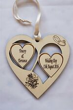 Personalised Engraved Wood Wedding Decorative Gift Plaque - Exclusive to GPG Ltd