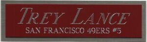 TREY LANCE 49ers NAMEPLATE FOR AUTOGRAPHED Signed HELMET-FOOTBALL-JERSEY-PHOTO
