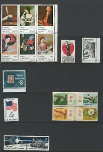 USA - single, blocks of stamps - ex deceased estate - great selection (0171)