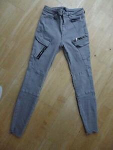 RIVER ISLAND ladies grey skinny leg jeans UK 8 REGULAR EXCELLENT COND