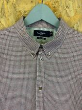 PAUL SMITH, Size L, Red/White/Blue Check, LS Tailored Fit Shirt,*EX COND*