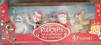 Rudolph the Red Nosed Reindeer 4 Piece Figurine Set~CUTE!