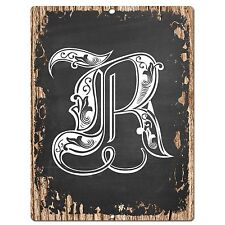 PP0489 Alphabet Initial Name Letter R Chic Sign Bar Shop Store Home Room Decor