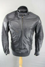 BRITISH MADE SCOTT LEATHERS BIKER JACKET WITH CE SHOULDER & ELBOW ARMOUR SIZE 16