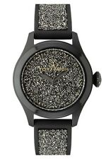 Toy Watch GL02BK Women's Glitter Black White Swarovski Crystal Watch 5 ATM 0123A