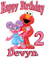 New Abby Elmo Personalized Custom Birthday T Shirt Add Name & Age Sesame Street