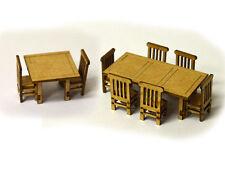 LASER CUT 4 x TABLES & 16 x CHAIRS OO SCALE 1:76 MODEL RAILWAY - LX070-OO