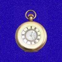 Superb 14k Gold Longines Keyless 17 Jewel RailRoad Half-Hunter Pocket Watch 1910