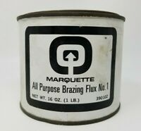 Vintage 1960s Industrial Marquette All Purpose Brazing Flux Container