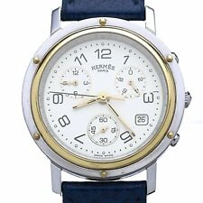 Hermès - Clipper Chronograph Watch Steel & Gold