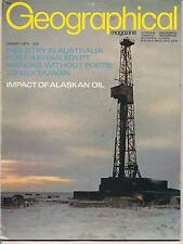 the geographical magazine-JAN 1972-PUT RIVER NO.1 RIG,ALASKA.