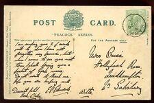 Channel Islands SARK 1906 PPC fine single ring code A postmark cancel