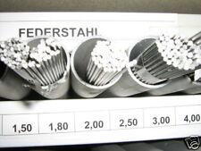 Federstahldraht Sortiment Rund  23Tlg.   0,50-5,00 mm