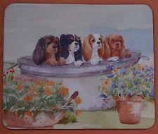 CAVALIER KING CHARLES SPANIEL DOGS MOUSE MAT NEOPRENE DESIGN WATERCOLOUR PRINT