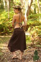 Tribal Skirt, Raw Cotton Gypsy Festival Pixie Boho Fairy Goa Hippie Faerie Rave