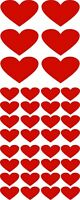 38 LOVE HEART STICKERS Any Colour Car / Wall Stickers Decals Graphics