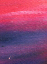 ACEO ORIGINAL PAINTING by Studio Angela Purple/Burgandy Abstract #1