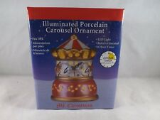 Mr. Christmas Illuminated Porcelain Ornament - New - Carousel