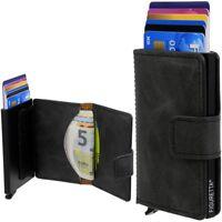 FIGURETTA Scheckkarten-Etui RFID Kartenetui Kreditkartenetui Aluminium Portmonee