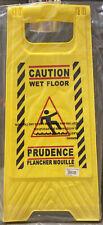 Hillman Yellow 24 Caution Wet Floor Sign Set Of 3