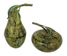 Large Decorative Apple and Pear Gourd Squash Metal Statue Decor Fruit Vegetable