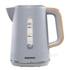 Daewoo Stockholm 1.7L Cordless Kettle Modern Matte Grey with Wood Effect Handle
