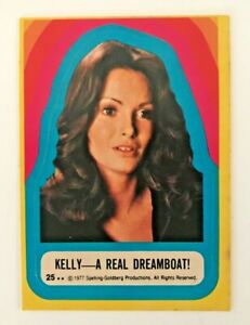 1977 Topps Charlie's Angels Jaclyn Smith Kelly Real Dreamboat Sticker Card 25