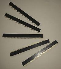 5 Barettes de connexion 40 broches femelles, 2,54 mm. DIY, Arduino, Pi