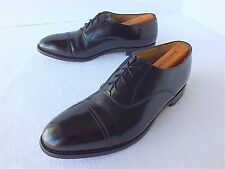 Johnston and Murphy Men's Leather Lace up Cap Toe Oxfords Black Size 10M(US)