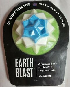 Da Bomb Earth Blast Sea Breeze 4 oz Surprise Inside Bath Bomb New