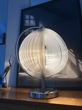 Mid Century Moonlamp 70's Lamellen Tischlampe Verner Panton Stil Space Age
