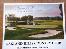 1961 U S Open Champion, Gene Littler autographed Oakland Hills C C scorecard.