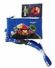 Angry Birds Blue Lanyard Fastpass ID Ticket Holders with Detachable Coin Purse