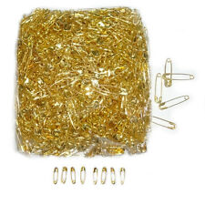 100 Mini Safety Pins Metal Sewing Craft GOLD Pin Secure Small Tiny Tag Dress