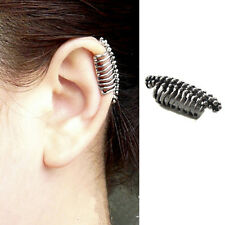 1x Punk Ear Clip Skull Vertebrae Cuff Wrap Earrings No piercing-Clip Jewelry VP