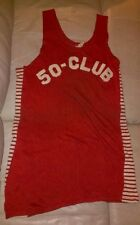 Original 1930s Game Used Basketball Jersey Empire Athletic Supply Co NYC 50 Club