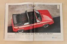 VW Golf I Cabrio Sportline - Anzeige/Werbung