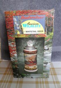 2001 Budweiser Whitetail Deer Stein CS446 NIB