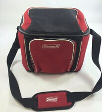 Coleman Red/Black Cooler w/Shoulder Strap 2 Zip 2 Mesh Pockets, Plastic insert