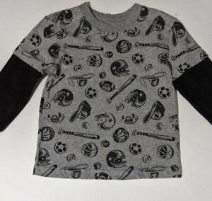Toddler Boy Garanimals Long Sleeve Grey Sport Shirt Size 24 Months