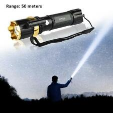 Super Hell 99000 LM T6 Zoom LED 18650 Fokus Taschenlampe Flashlight Torch Lampe