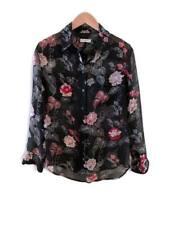 EQUIPMENT Femme Signature Silk Black Floral Button Down Blouse. Size XS