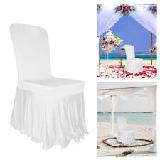 Chair Covers Spandex Skirt Style Slip Covers Wedding Banquet Party Decor