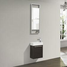 "Dowell 010 18""W Wall Mount Bathroom Vanity&Polymarble Sink set 10""D Chestnut"