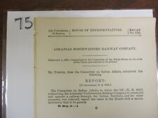Gov Report 1895 Arkansas Northwestern Railway Company Indian Territory #75