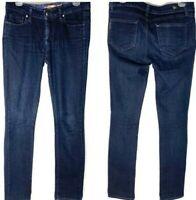 Paige Skyline Straight Jeans Size Dark Wash Denim Stretch Blue Size 28 Women Sz