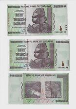 2X 50 TRILLION ZIMBABWE ZA DOLLAR PAIR, Replacement MONEY.UNC[10 20 100]Currency