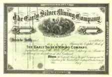New Listing188_ Early Silver Mining Stock Certificate (Colorado)